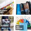 Utilisez le sac comme un support de publicité tendance