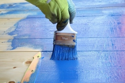 peinture sur volets