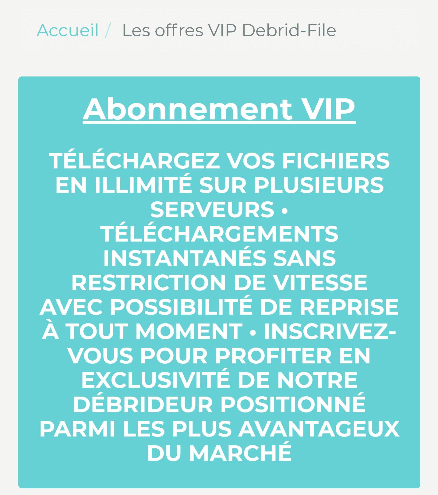 debrid file VIP