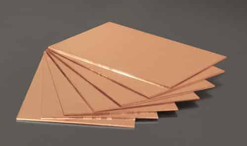 plaques de cuivre